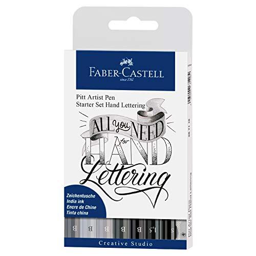 Faber-Castell 267118 Pennarello, Nero e Grigio, 8