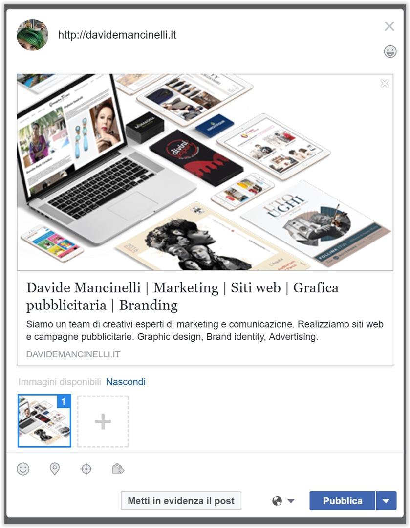 Modificare Anteprima Link Facebook | Cambiare Immagine Post Facebook Link