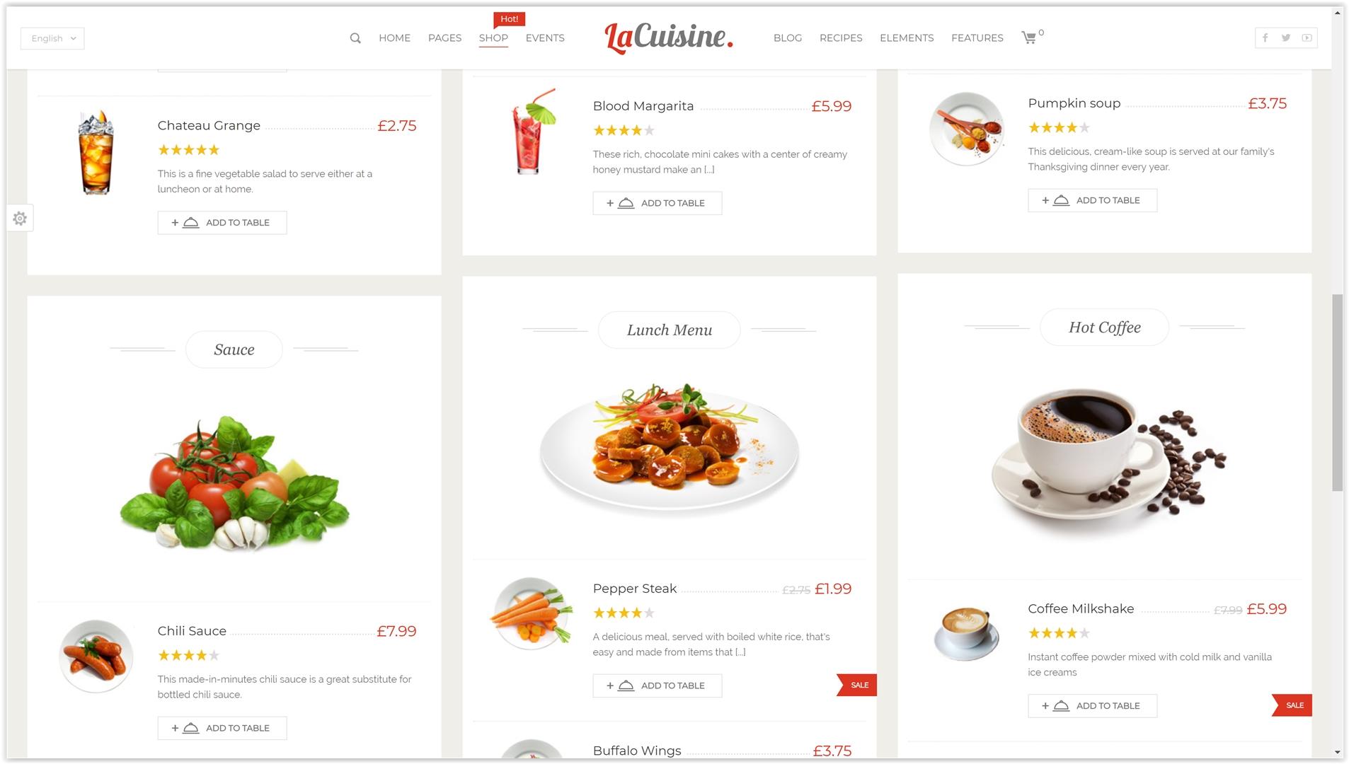 migliori temi wordpress ristorante menu