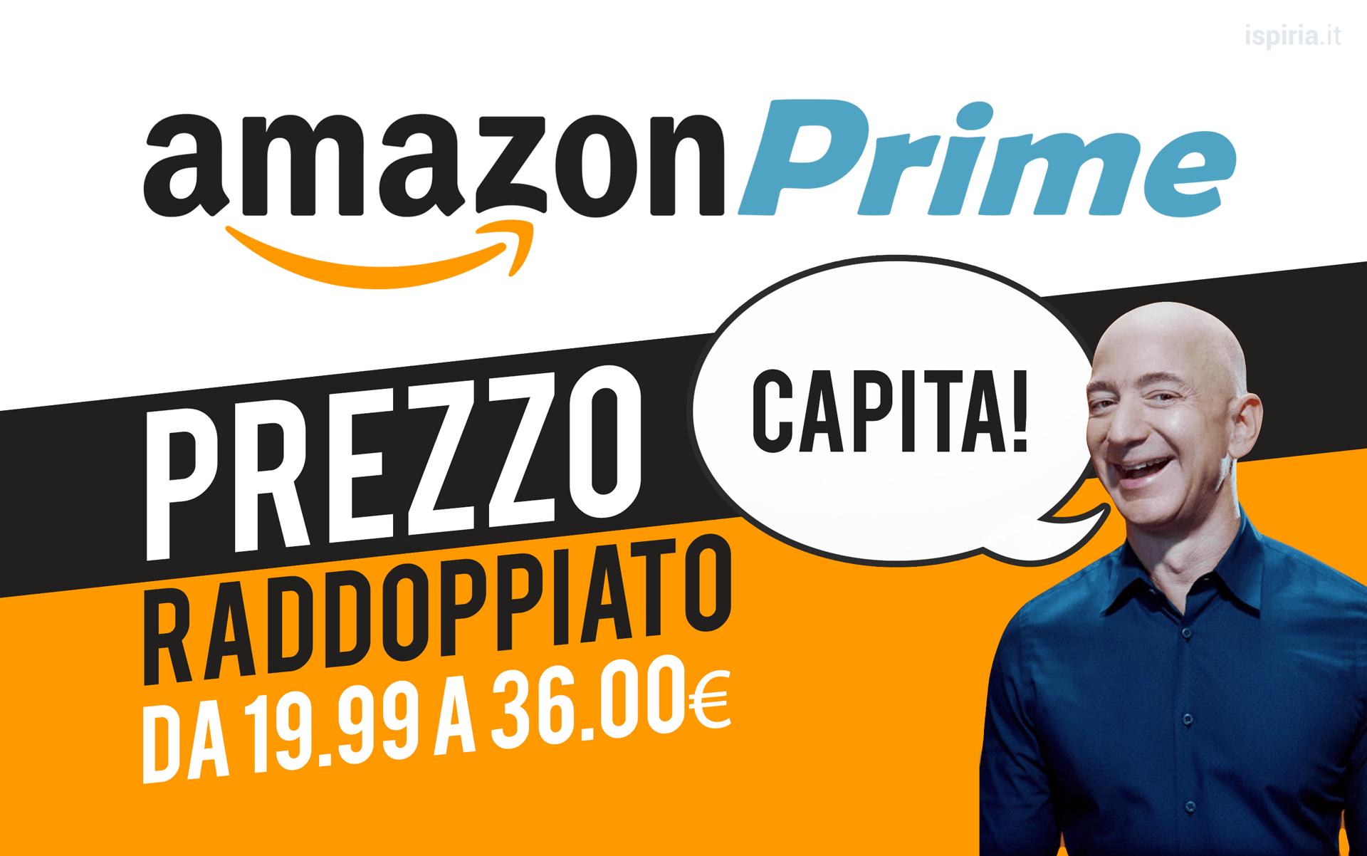 Aumento Prezzo Amazon Prime Jeff Bezos