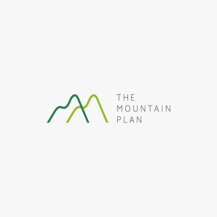 logo montagna ispirazione grafica