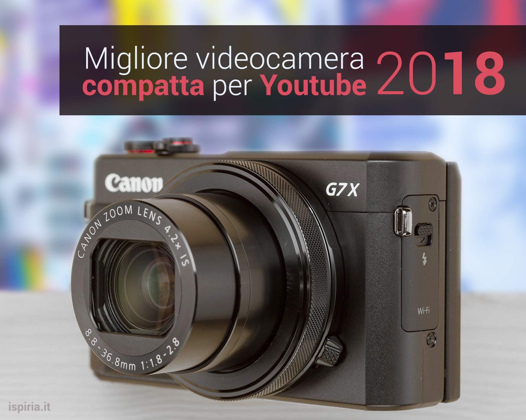migliore videocamere youtube compatta 2018 vlog