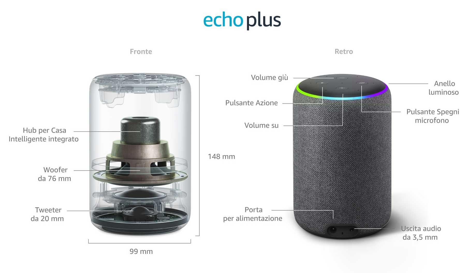 echo plus smart migliore speaker assistente vocale