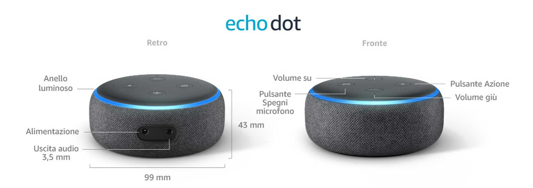 migliore smart speaker piccolo amazon alexa assistente vocale