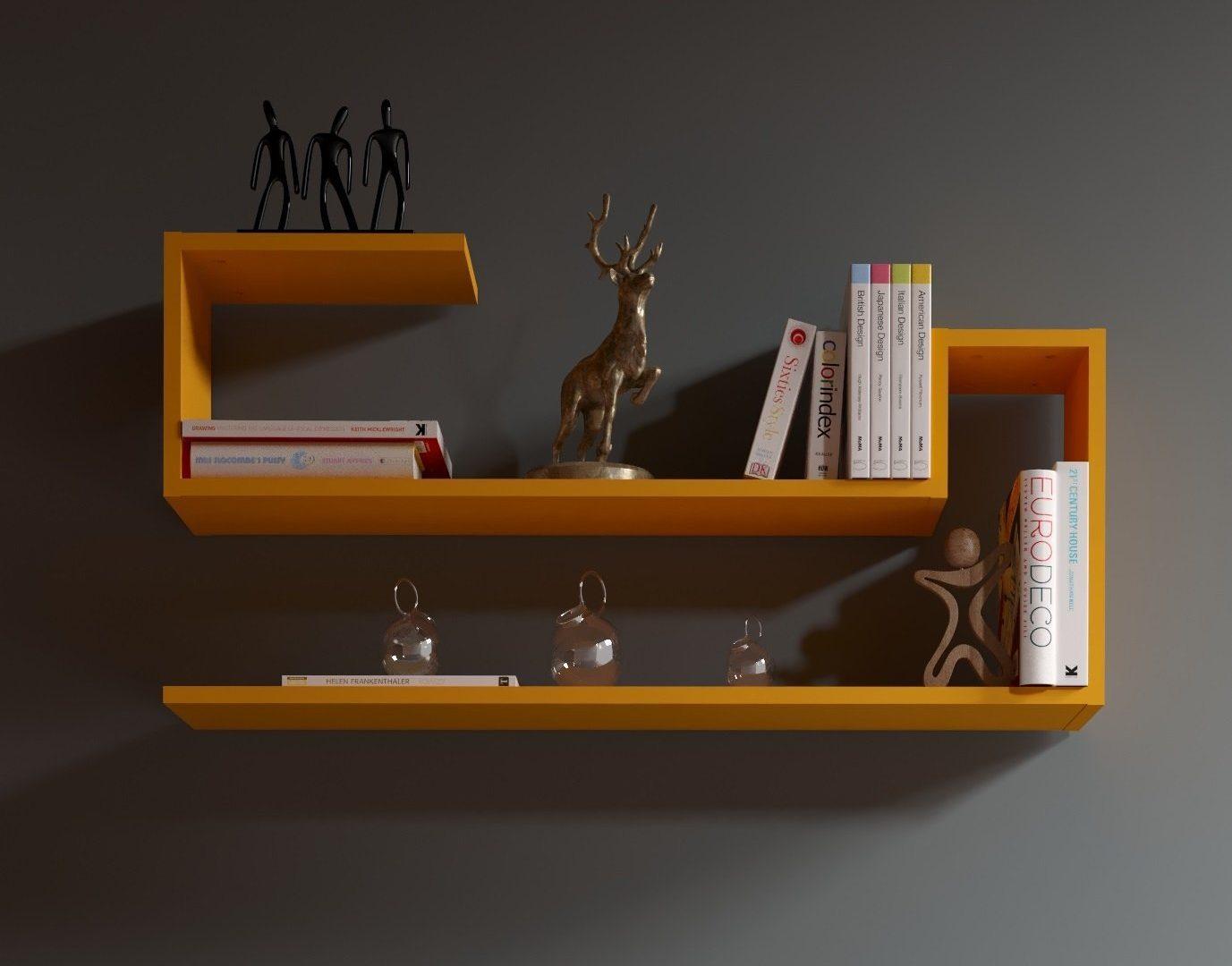 Libreria Design A Parete Colorata
