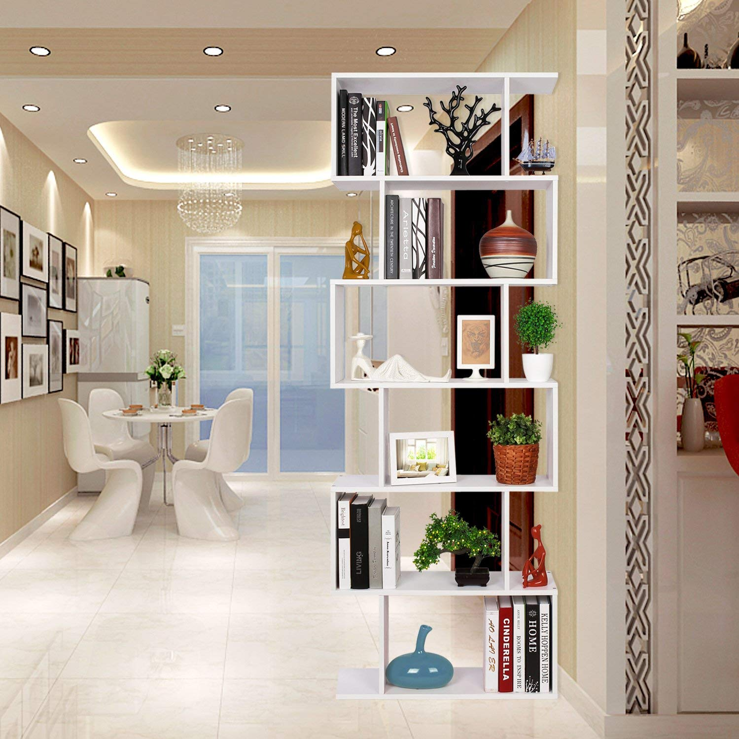 libreria design da terra bianca