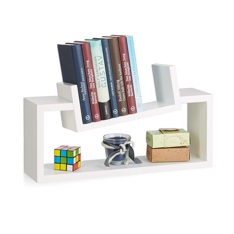mensola design parete libreria