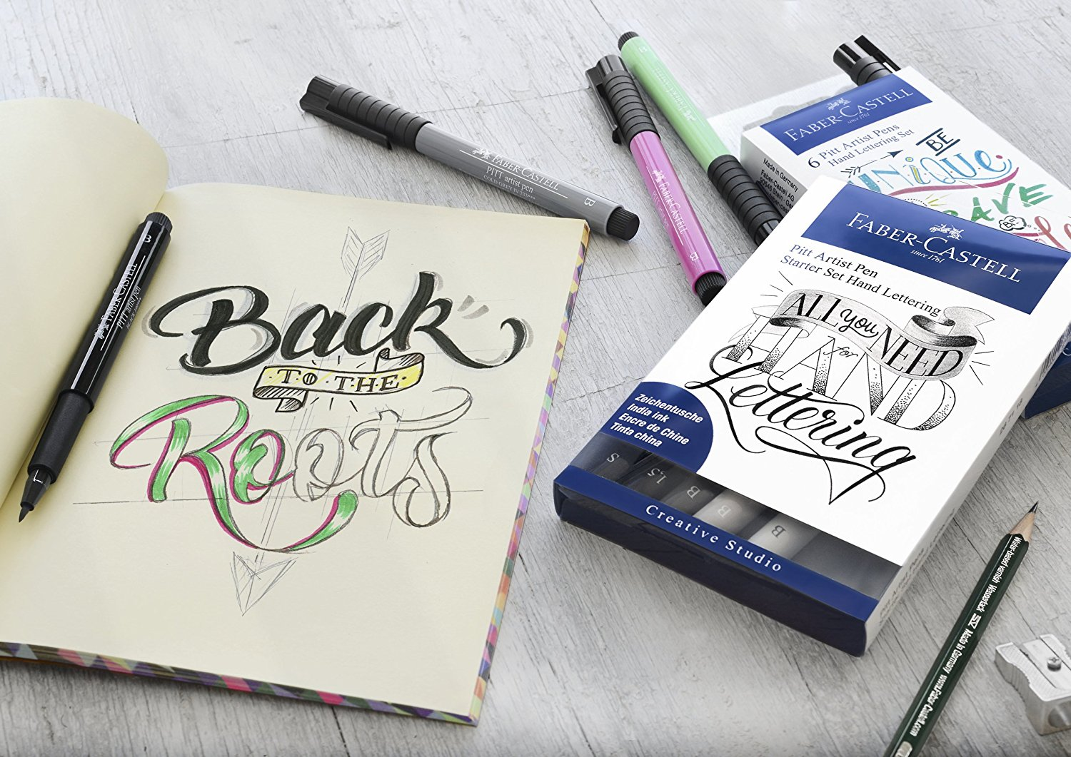 pen brush lettering faber castell
